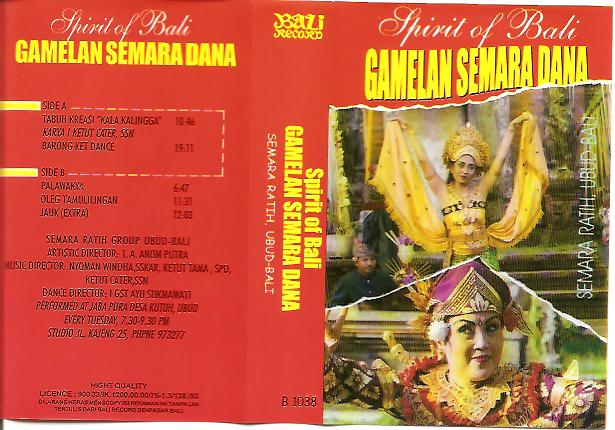 SR spirit of Bali - Gamelan Semara Dana B1038