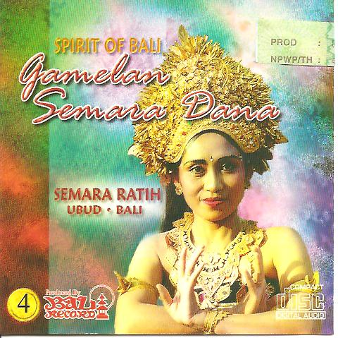 SR spirit of Bali - Gamelan Semara Dana vol 4 BRD 25